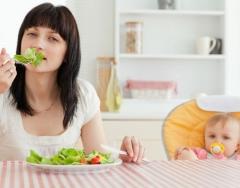 Правила диеты при кормлении грудью до и после года